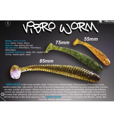 vibro worm Crazy fish