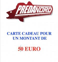 CARTE CADEAU PREDANORD 50 EURO