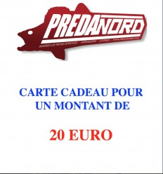 CARTE CADEAU PREDANORD 20 EURO