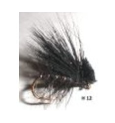 elk hair caddis noir (mouche seche)